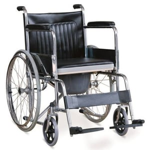 Manual Folding Wheelchair With Commode