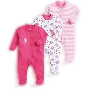 Multicolor Cotton Mix Printed And Plain Unisex Baby Rompers