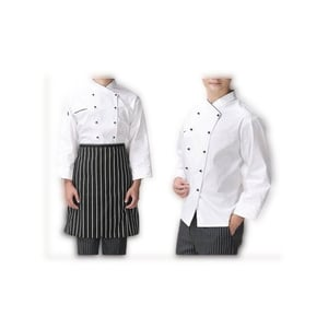 Hotel And Restaurant White And Black Cotton Cheff Coat