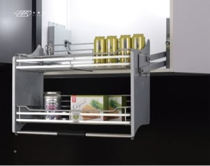 Kitchen Elevator Pull Out Wire Basket