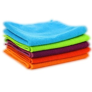 Dust Absorbent And Durable Car Cleaning Microfiber Multicolor Cloth