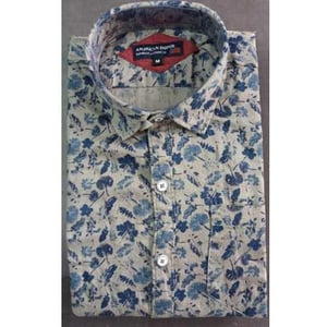 Men's Button Down Forest Printed Shirt