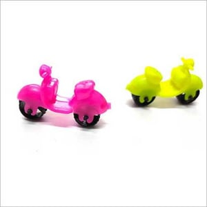 Pink and Yellow PVC Scooter Toys