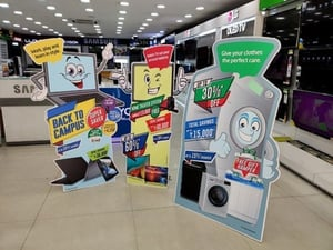 Cut Out Shape Promotional PVC Banner Standees