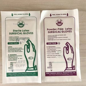 Sterile Latex Surgical Gloves Powder Free/Powdered