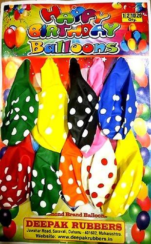 Polka Dot Colored Balloon