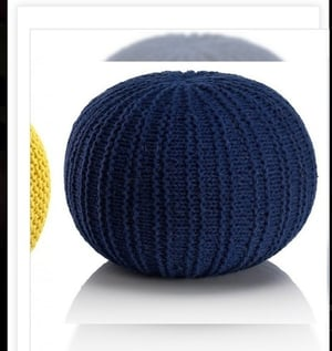 Pure Cotton Knitted Poufs
