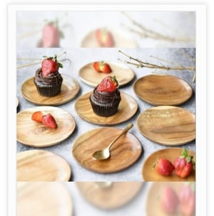 Brown Color Wooden Sweet Dish Plate