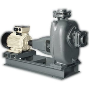 Portable And Single Stage Cast Iron Three Phase Kirloskar Dewatering Sewage Pump Set With Motor