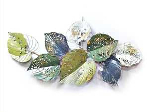 Colurful Metalic Leaf Wall Art with Home Decoration and Gifting
