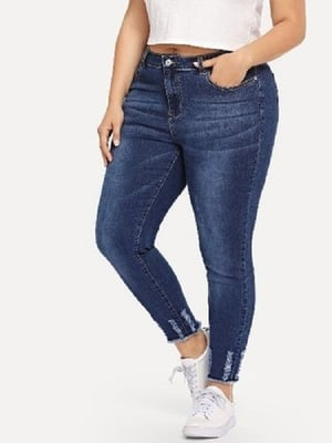 Made In India Curvature Skinny Fit Knitted Dobby Stretchable Plain Ladies Jeans