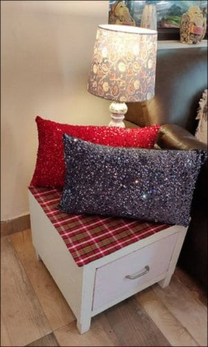 Rockfort Creations Sequin Cushion Cover