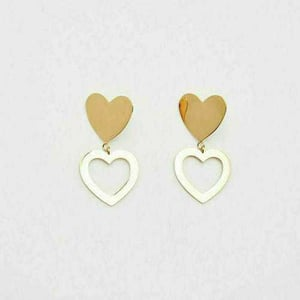 Hearts Sterling Silver Earring with Gold Polish Available