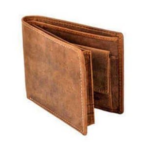Pure Brown Leather Multi Compartment Mens Wallet