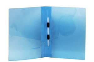 A4 Size Transparent Report File Folder with Plastic Clips