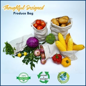 LIVINGBASICS Set of 12 Premium Air Circulating Reusable Fridge / Refrigerator Storage Bags / Pouches / Packs for Vegetables / Dry Fruits / Cereals and Fruits (4 Large, 4 Medium and 4 Small Size)