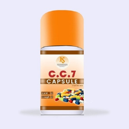 C.C.7 Ayur Pro. Med Natural Ayurvedic Herbal Capsules For Cough And Cold