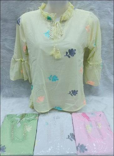 Ladies Attractive Pattern Printed Full Sleeve Georgette Tops