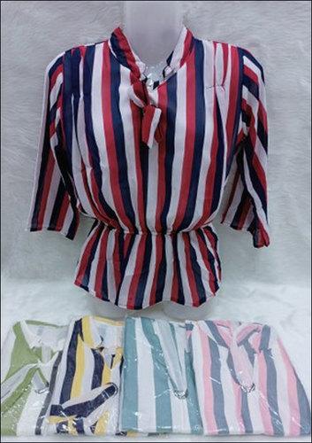 Ladies Party Wear Printed Full Sleeve Georgette Tops