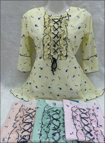 Ladies Regular Wear Printed Full Sleeve Georgette Tops