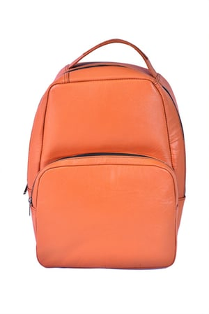 Leather Backpack with Mobile Pocket