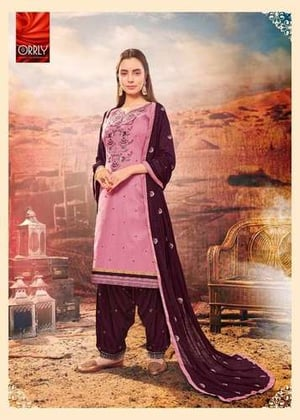 Orrly 4009 Cotton Silk Embroidery Work Salwar Suits