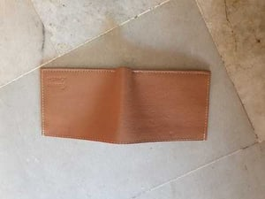 Brown Color Mens Simple Leather Wallet