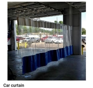 Durable Fine Finished Transparent Car Curtain