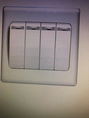 White Color Long Life Plain Wall Switches