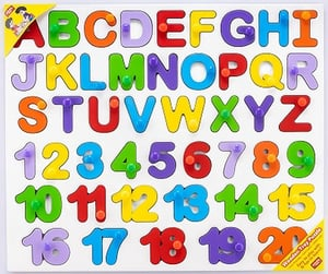 Capital Alphabets With 1 To 20 Numbers Wooden Tray Puzzle