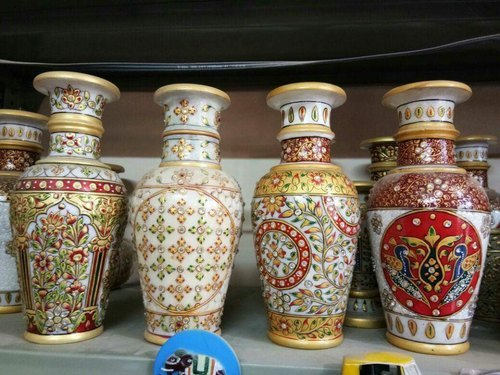 Marble Flower Pot For Gifting