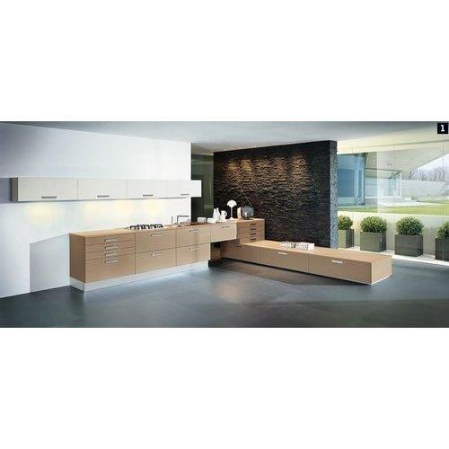 1.5 Feet Brown Designer Wooden Kitchen Cupboard