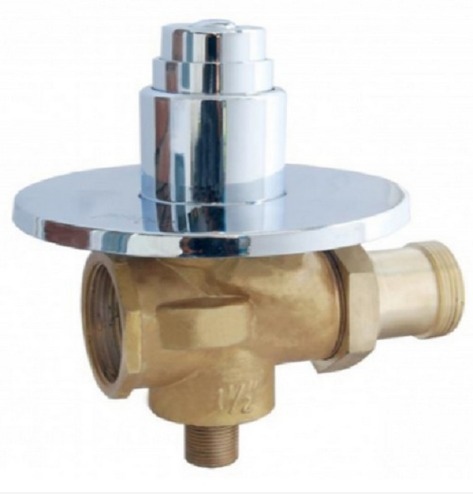 Brass And Stainless Steel Chrome Plated Concealed Flush Valve