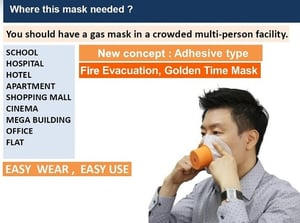 Disposable Gas Mask For Fire Disaster Evacuation