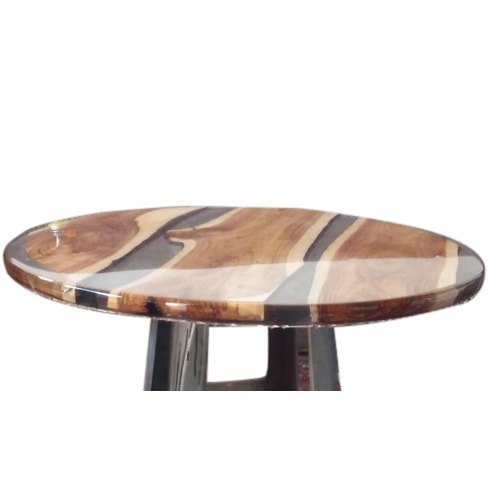 Glossy Finish 2 Feet Wooden Round Table