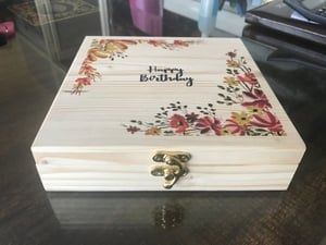 Durable Customized Wooden Gift Box 500 Grams