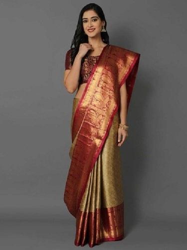 6.5m Ladies Designer Cotton Silk Saree
