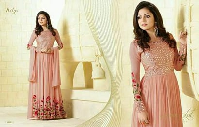 Dif 99002 Georgette Embroidery Work Salwar Suits Certifications: All Over World