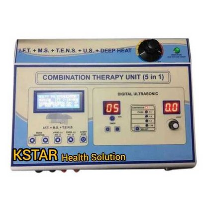 K5In1 Kstar Combination Machine 5-In-1 (Ift + Tens + Ms + Us + Deep Heat Therapy) Microcontrolled Base