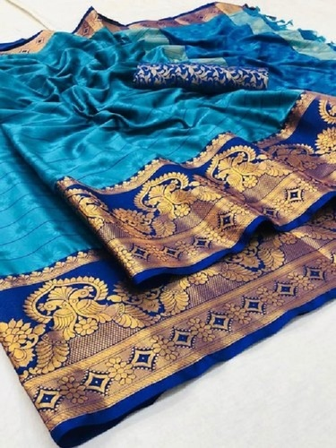 Party Wear Multi Color Fancy Cotton Silk Saree