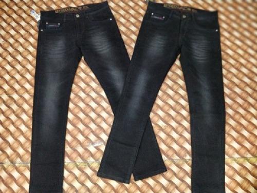 Ankle Fit Plain Non-Stretchable Black Denim Jeans For Men
