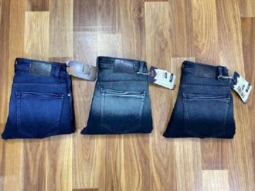 Casual Wear Nero Fit Plain Blue Denim Stretch Jeans For Men