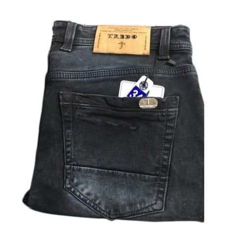 Casual Wear Skin Fit Black Skinny Denim Knitted Jeans For Men