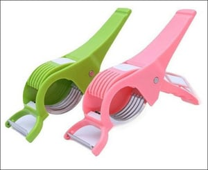 Non Electric Plastic Vegetable Cutter With Peeler