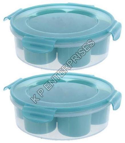 Plastic Round Plain Spice Box