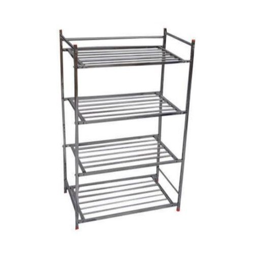 Polished Stainless Steel Shoes Rack