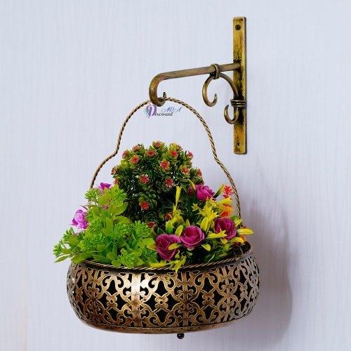 Round Shape Iron Planter For Decoration