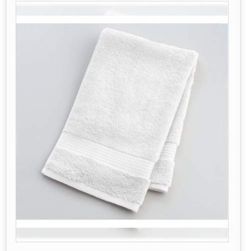 Square Shape White Color Hand Towel
