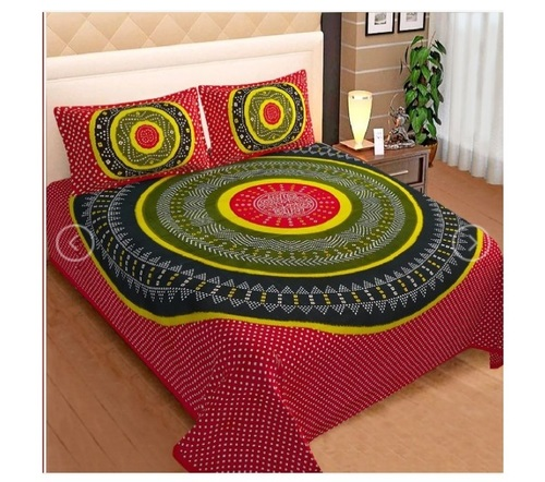 300TC Cotton Printed Bedsheet King Size with 2 Pillow Cover Combo