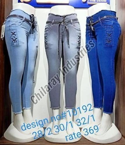 Ladies Denim Cotton Jeans (Casual Wear, Party Wear)